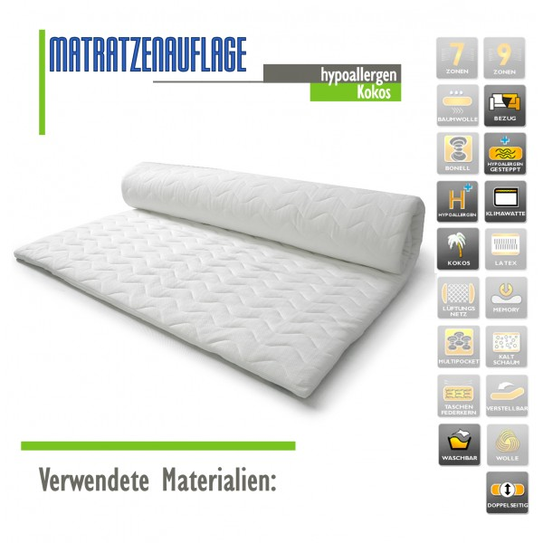 kokos 110 x 200 matratzenl a b. Black Bedroom Furniture Sets. Home Design Ideas