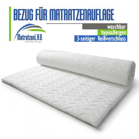 BEZUG FÜR MATRATZENAUFLAGE 140 x 200 GESTEPPT